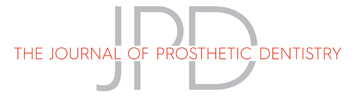 Journal of Prosthetic Dentistry Home